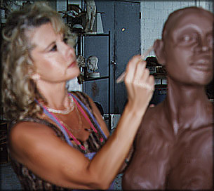 Janis Stevens Sculpting in Clay