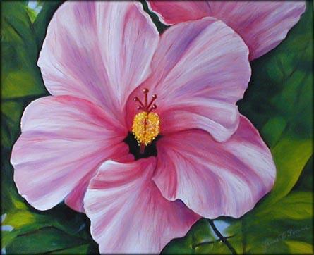 Tropical Flower Oil Paintings by Janis Stevens