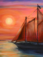 Sunset Paintings Gallery