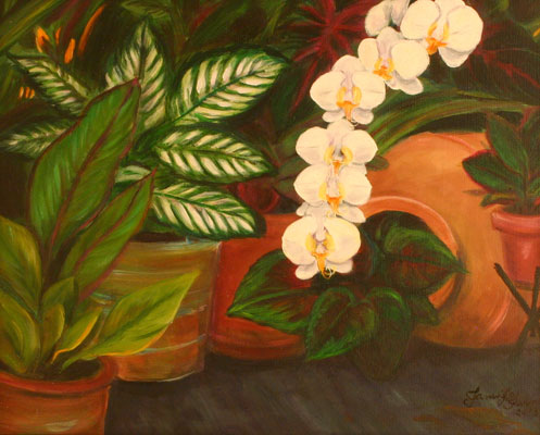 Orchids Still Life Painting