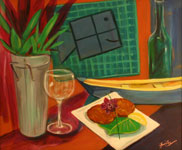 Square Grouper Still Life Painting