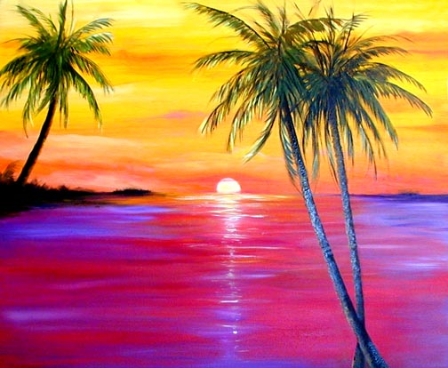 Key West Sunset Prints by Artist Janis Stevens
