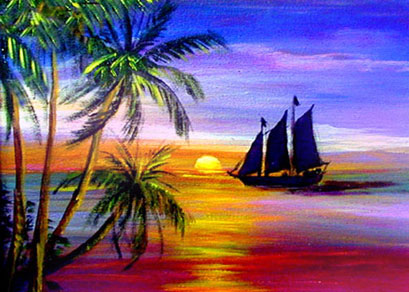 Sunset Paintings By Janis Stevens
