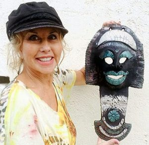 Janis with Ceramic Mask
