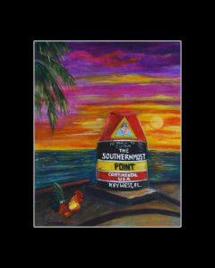 Key West Matted Art Print
