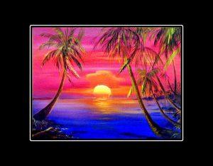 Sunset Meltdown Matted Art Print